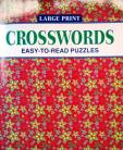 Crosswords - Large  Print easy to read puzzles(red)