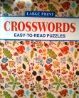 Crosswords - Large Print easy to read puzzles (yellow)